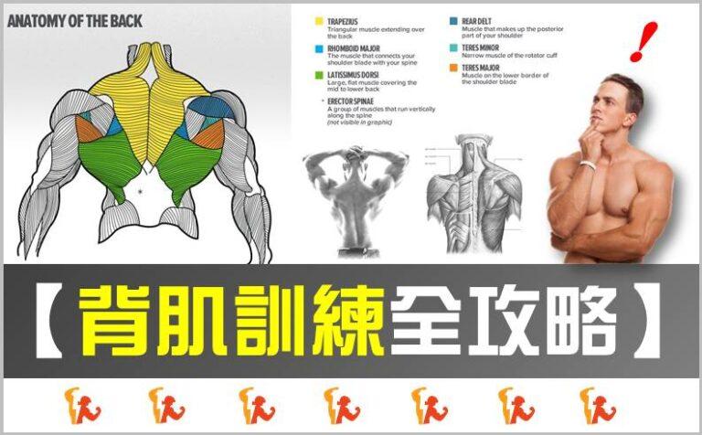 【2021】背肌訓練全攻略:練背秘訣大公開!8大動作打造最強增肌菜單