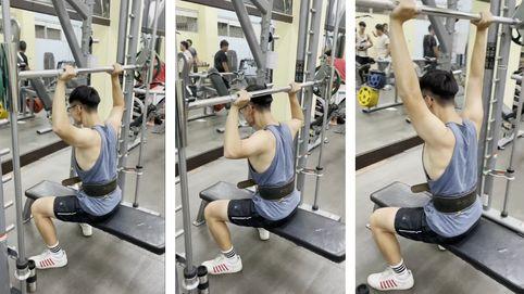 三角肌訓練-頸後肩推